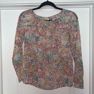 Semi-sheer Ann Taylor loft blouse XXS Petite